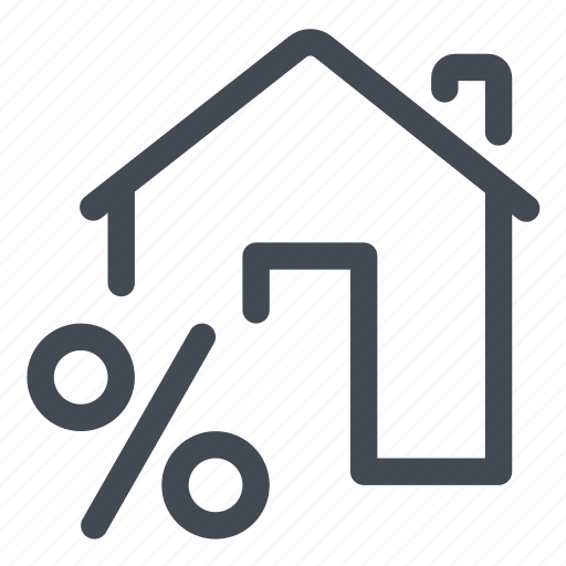 house, loan, percentage, rate icon