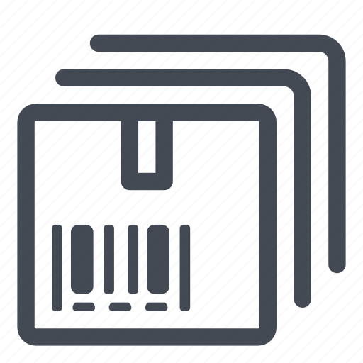 boxes, packages, products icon
