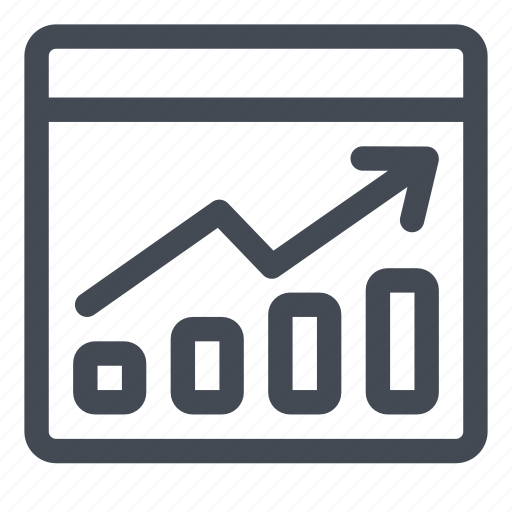 business, chart, graphics, performance, report, results, summary icon