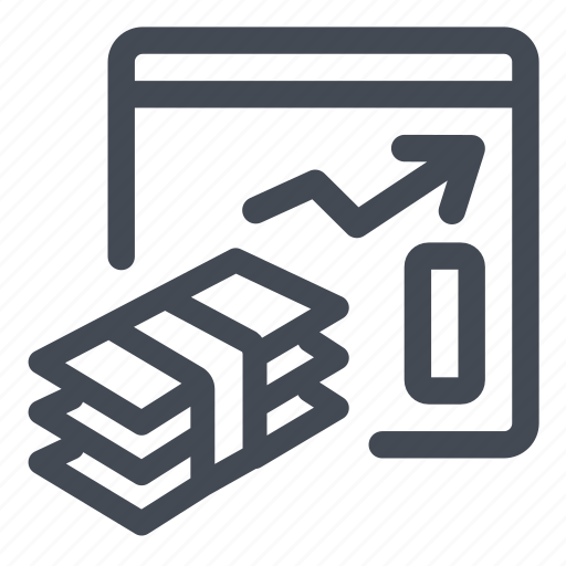 charts, graphics, money, performance, report, revenues icon