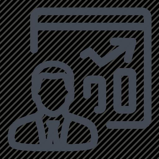 graphics, performance, report, sales, vendor icon