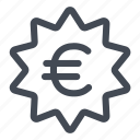 deal, euro, money, sale, savings icon