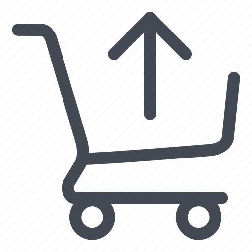 arrow, cancel, cart, out, purchase, remove, shopping icon