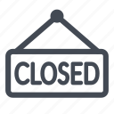 closed, store icon