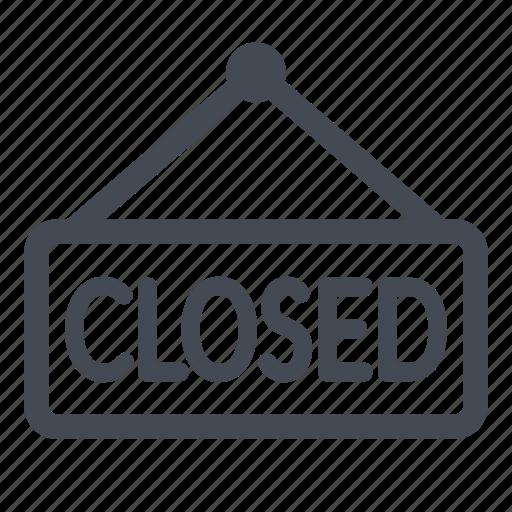 closed, store icon