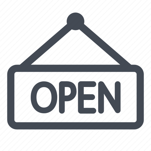 open, store icon