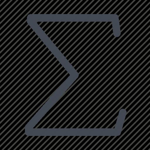 function, greek, letter, mathematics, sum icon