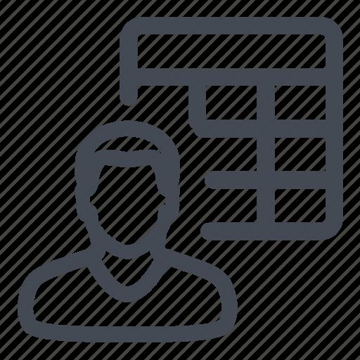 accounts, customer, table icon