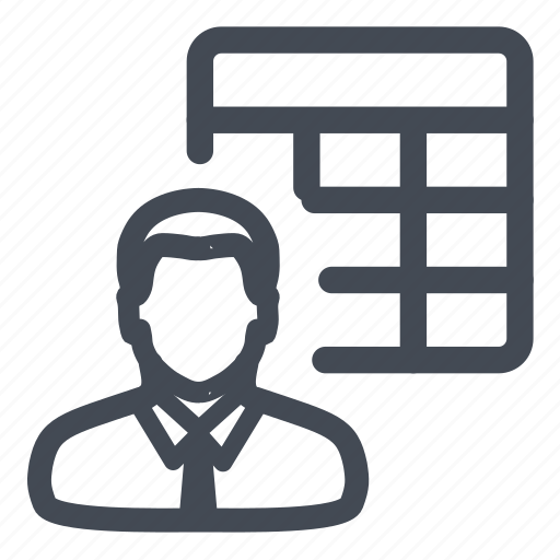 accounts, employee, table icon