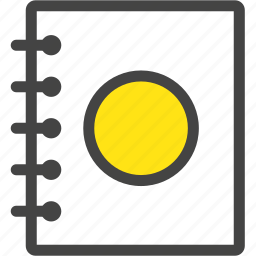 diary, memo, notebook, record, study icon