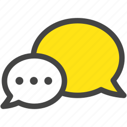 chatter, message, prattle, speech bubble icon