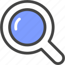 browse, look, research, search, study, zoom icon