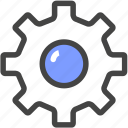 set, set-up, wheel icon