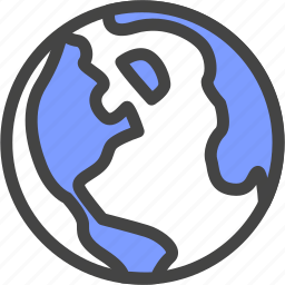 geography, globe, map, school, world icon