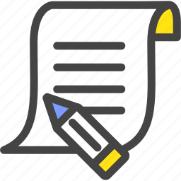 memo, paper, pen, pencil, quiz, study, test icon