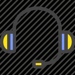 adviser, headphones, listening, talk icon