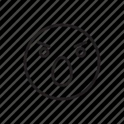 emoticon, face, gasp, oho, shock, smiley icon