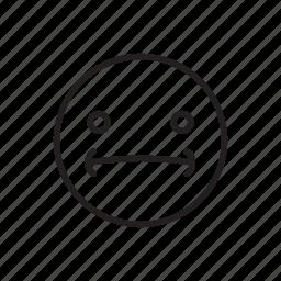 confuse, emoticon, face, smiley, twist, umm icon