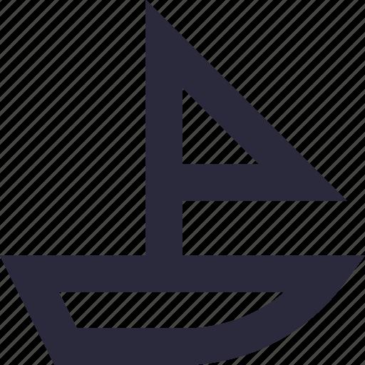 boat, sailing boat, ship, vessel, yacht icon