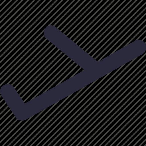 Passenger plane, airplane, plane, airliner, aeroplane icon