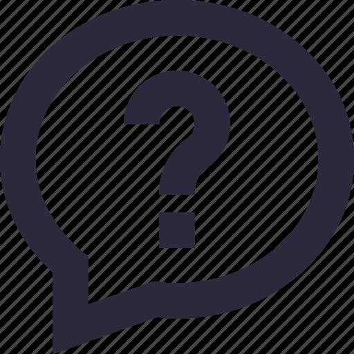 chat bubble, faq, query, question mark, questionnaire icon