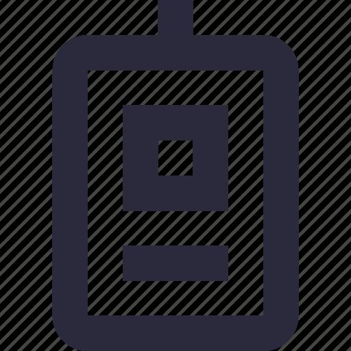 employee card, id card, identity badge, identity card, student card icon