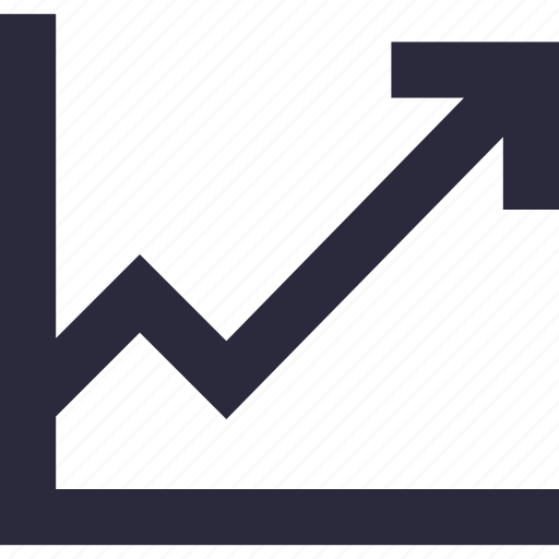 growth, growth arrow, line graph, stock graph, trending icon
