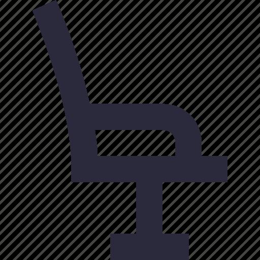 barber chair, chair, furniture, salon chair, styling chair icon