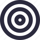 bullseye, circle, dartboard, shape, target icon