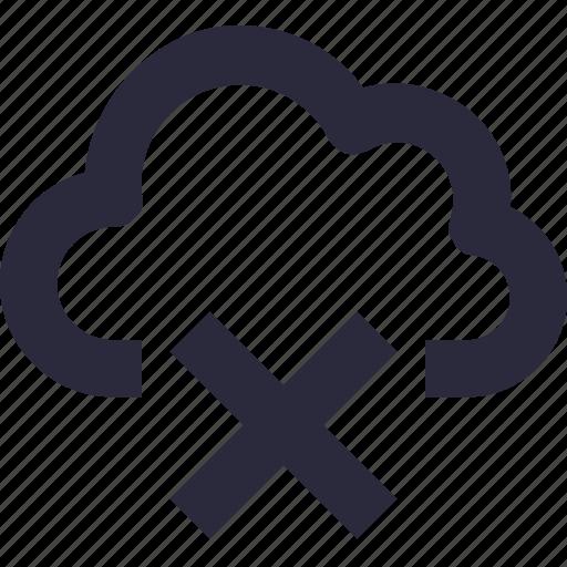 cloud, cloud computing, cloud disable, cloud offline, disconnected icon