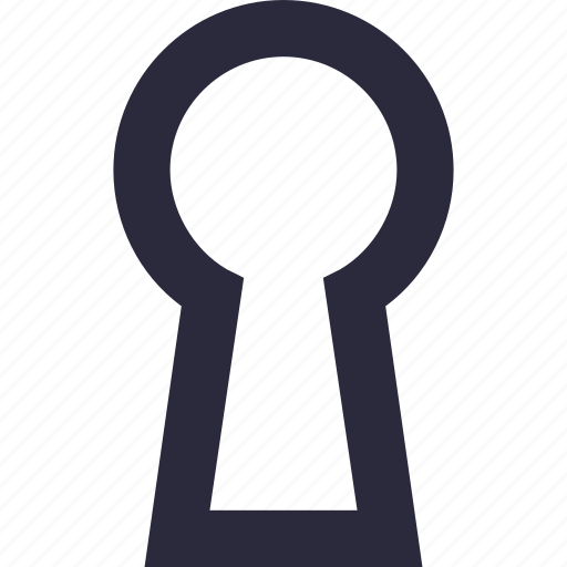key slot, keyhole, lock, privacy, security icon