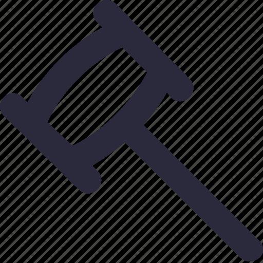 hammer, hand tool, nail hammer, repair tool, work tool icon