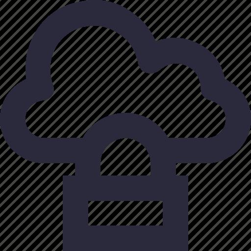 cloud computing, cloud locked, cloud security, data security, lock icon