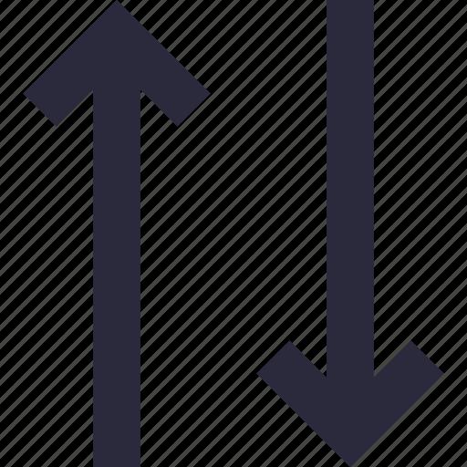 arrows, down arrow, downward, up arrow, upward icon