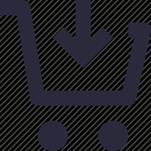 add item, add product, add to basket, add to cart, shopping trolley icon
