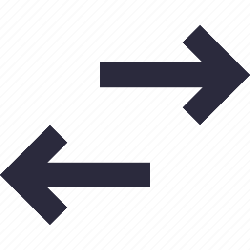 arrow hint, directional arrows, opposite arrows, two arrows, two way icon