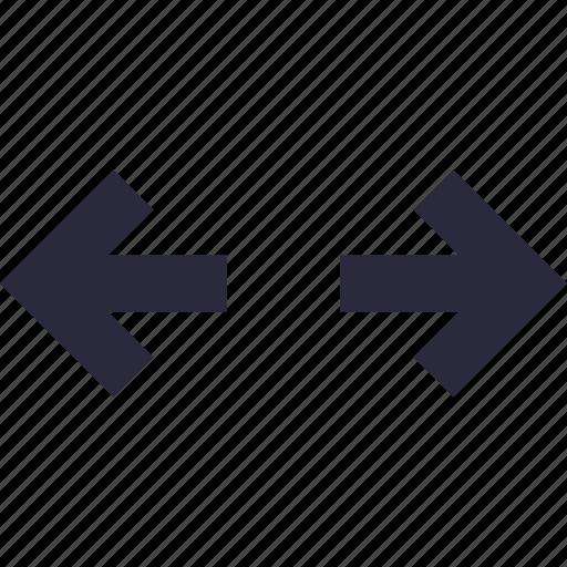 arrows, data processing, data share, left arrow, right arrow icon
