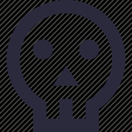 be aware, danger, death, skeleton, skull icon