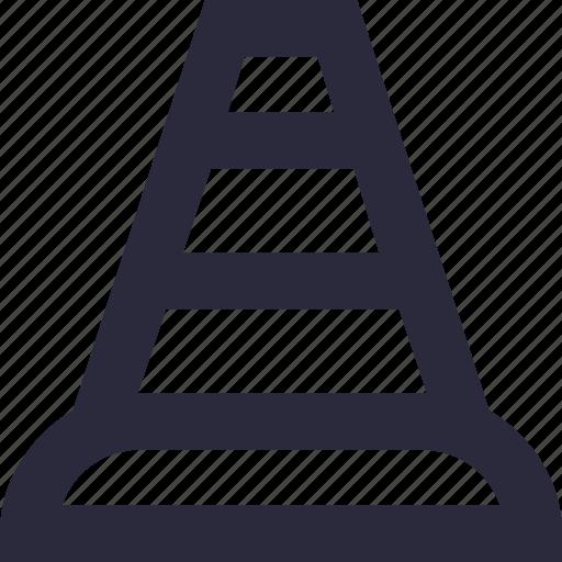 cone pin, construction cone, road cone, traffic cone, traffic pylons icon