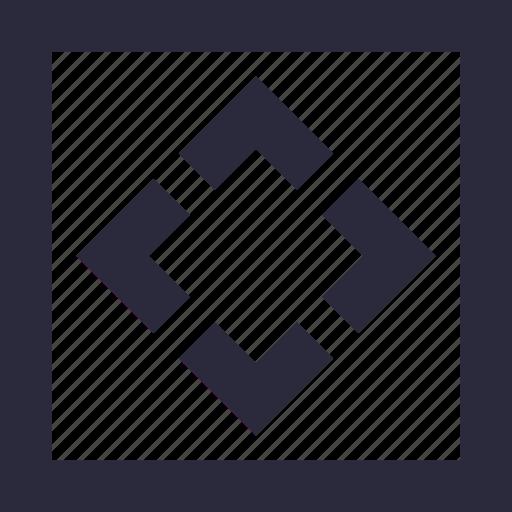 design, diagonal, model, square, structure icon