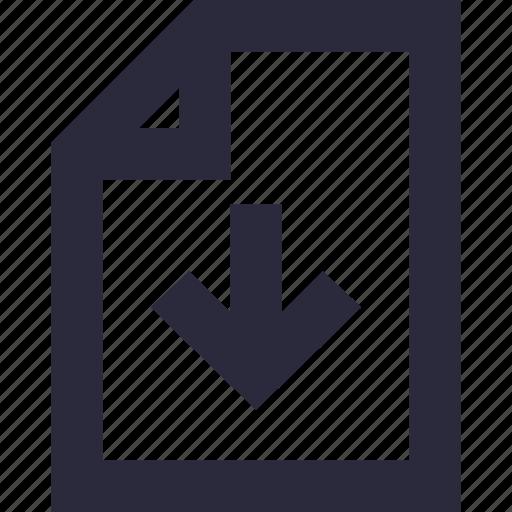 arrow, down arrow, download, download file, download tray icon