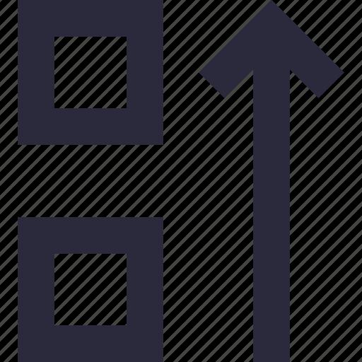 alignment, arrow, formatting, sort down, sorting icon