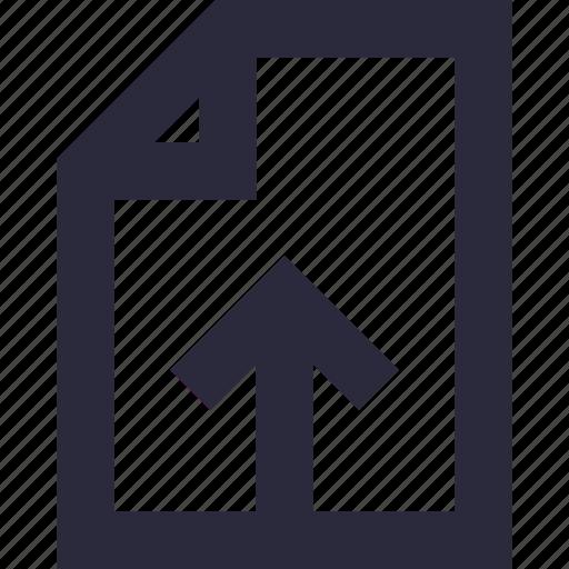 arrow, export file, up arrow, upload, upload file icon