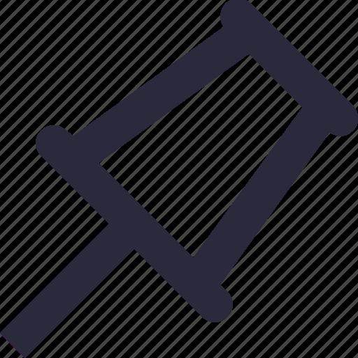 corkboard, drawing pin, map pin, push pin, thumbtack icon