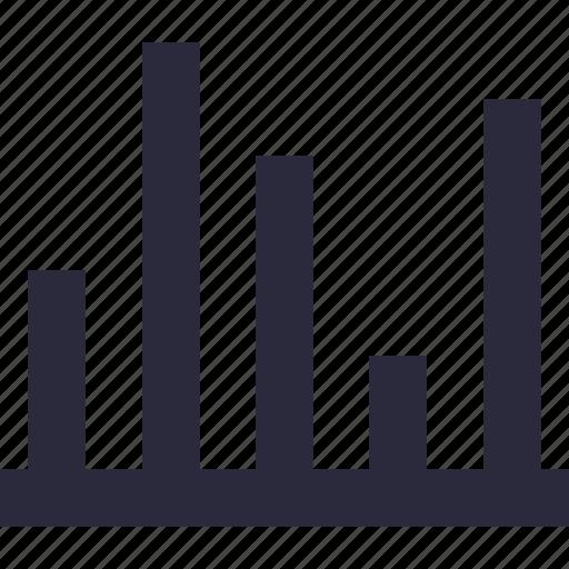 analytics, bar chart, bar graph, infographic, statistics icon