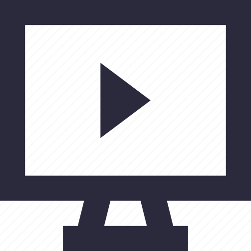 media player, monitor, multimedia, video, video player icon