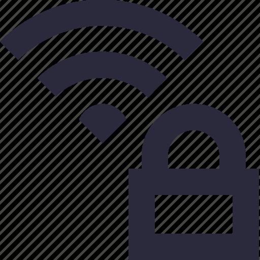key, lock, privacy, wifi lock, wifi protection icon