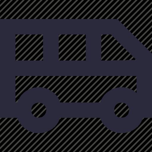 bus, coach, omnibus, transport, vehicle icon