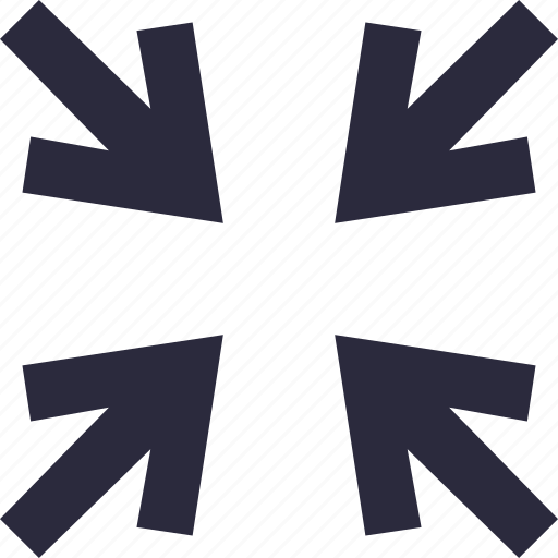 arrows, minimize, reduce, screen size, shrink icon
