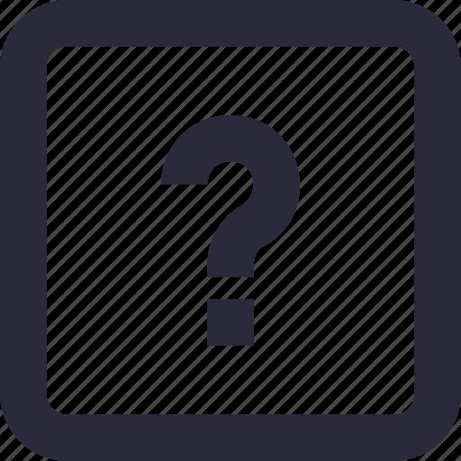 faq, help, query, question mark, questionnaire icon